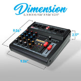 PYLE PMX462 3-Channel Audio Mixer With Subwoofer Output, Bluetooth & USB Interface