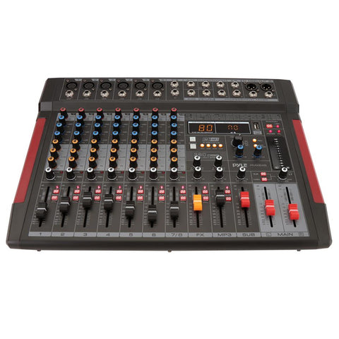 PYLE PMX648 8-Channel Audio Mixer w/ Recording Interface
