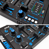 Pyle (Pmx7Bu) Bluetooth 3-Channel Dj Mp3 Mixer Mic-Talkover Usb Flash Reader Dual Rca & Microphone