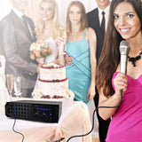 Pylepro Pmxakb1000 1000 Watt Bluetooth Karaoke Mixer With Two Microphone Inputs Rca Audio & Video