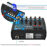 Pyle Pmxu43Bt 4-Ch. Bluetooth Studio Mixer - Dj Controller Audio Mixing Console System
