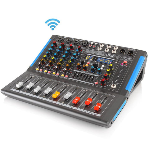 PYLE PMXU46BT 4-Channel Bluetooth Studio Mixer - DJ Controller Audio Mixer