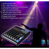 Pyle Pmxu63Bt 6-Channel Bluetooth Studio Mixer - Dj Controller Audio Mixing Console System