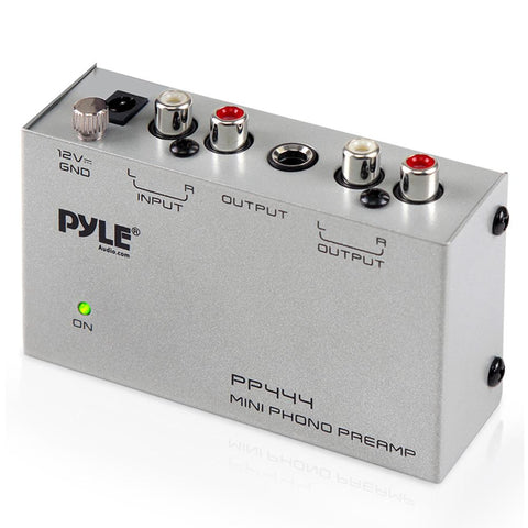 Pyle Pp444 Ultra Compact Phono Turntable Pre-Amplifier Cables Connectors & Adapter