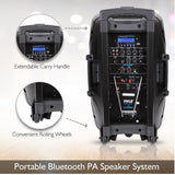 PYLE PPHP1235WMU Bluetooth Rechargeable PA Speaker with Microphones