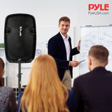 Pyle PPHP1599WU.5 PA Speaker System - 1600W Active Powered Bluetooth Compatible Speaker, Rechargeable Battery