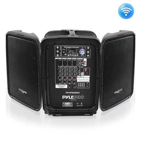 PYLE PPHP898MX Bluetooth PA Speaker & Amplifier Mixer System Kit