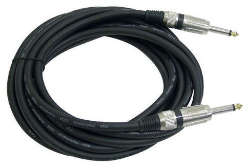 Pyle Ppjj15 15Ft. 12 Gauge Professional Speaker Cable 1/4 To Cables Connectors & Adapter