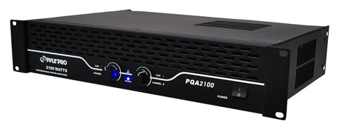 Pylepro (Pqa2100) 19 Rack Mount 1050 Watt Professional Power Amplifier 230 + Watts @ 8 Ohms Pa -
