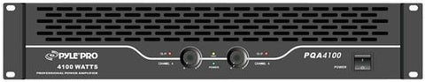 Pylepro (Pqa4100) 19 Rack Mount 2050 Watt Professional Power Amplifier 500 + Watts @ 8 Ohms Pa -
