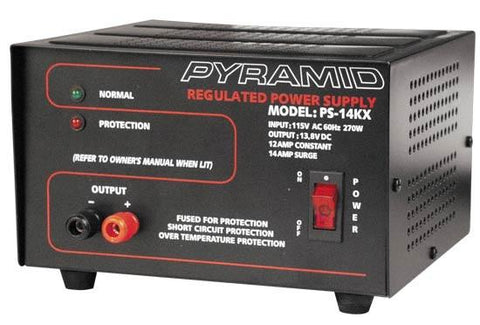 Pyramid (Ps14Kx) 12 Amp Power Supply Output: 13.8V Dc