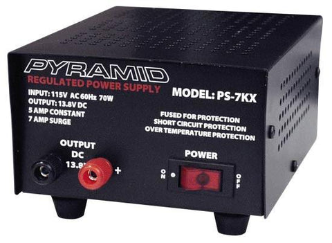 Pyramid (Ps7Kx) 5 Amp Power Supply - Output: 13.8V Dc