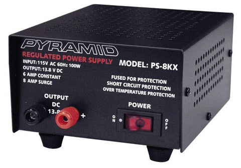 Pyramid (Ps8Kx) 6 Amp Power Supply - Output: 13.8V Dc