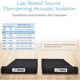 PYLE PSI03 Acoustic Sound Isolation Dampening Speaker Risers 9'' x 12'' - PAIR