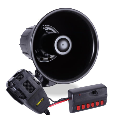 Pyle Psrntk23 Siren Horn Speaker System W/ Handheld Pa Microphone Sirens And Horns