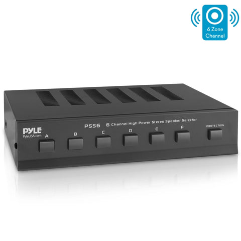 PYLE PSS6 6-Channel High Power Stereo Speaker Selector