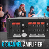 PYLE PSS8 8-Channel High Power Stereo Speaker Selector Switcher