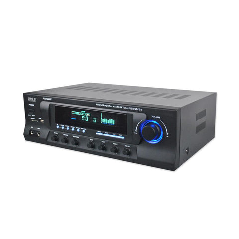 Pyle PT272AUBT Amplifier Receiver - Home Stereo System AM/FM Radio, Bluetooth Streaming, 300 Watt