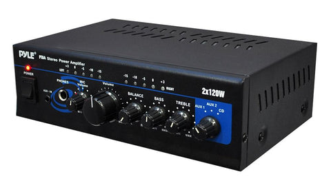 Pyle Pro Pta4 Mini 2 X 120 Watt Stereo Power Amplifier W/ Aux/cd Input