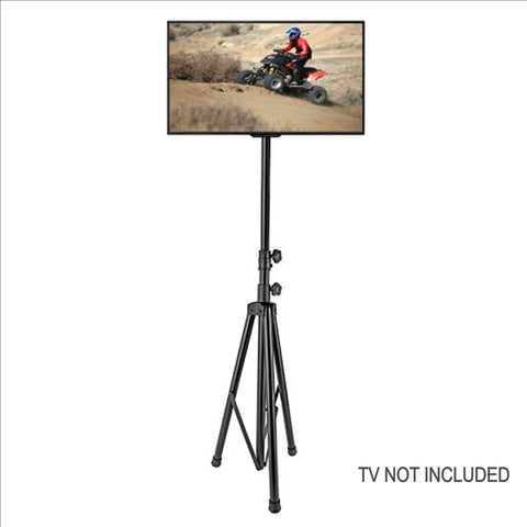 Pyle Ptvstndpt3211 Portable Tripod Tv Stand Television Led Flat Panel Monitor Mount Tvs Up To 60