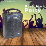 Pyle Pwma1216Bm Bluetooth Portable Mini Pa Speaker System W/handheld And Headset Mic Systems