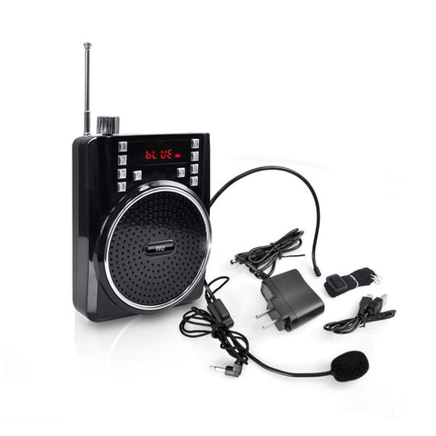 Pyle Pwma40Bt Portable Bluetooth Radio & Pa Speaker System Sound Amplifier Microphone