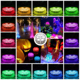 10 LED Submersible Vase Base Light - 16 Colours with Remote - Single