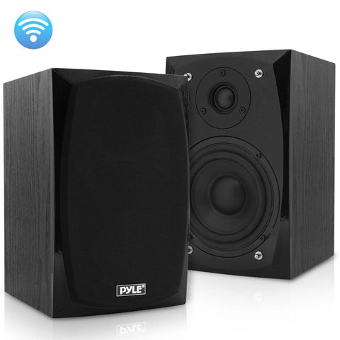 PYLE PBKSP22 HiFi Desktop Monitor Speakers Pair - 300 Watt Powered Bluetooth Compatible Active