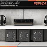Pyle Pspvc4 4-Channel Stereo Speaker Selector With Volume Control