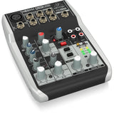 Behringer XENYX Q502USB 5-Input 2 BUS Mixer with USB/Audio Interface