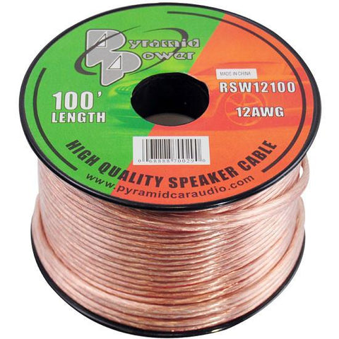 Pyramid (Rsw12100) 12 Gauge 100 Ft. Spool Of High Quality Speaker Zip Wire Home Audio