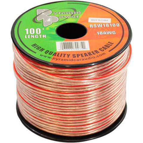 Pyramid (Rsw18100) 18 Gauge 100 Ft. Spool Of High Quality Speaker Zip Wire Home Audio