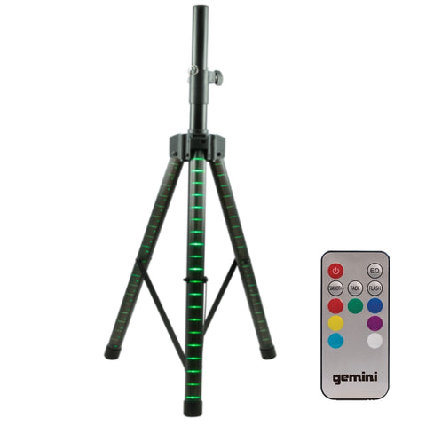 Gemini Stl-100 Led Lighted Telescoping Speaker Stand Stands