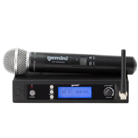 Gemini UHF-6100M UHF Wireless Microphone System Multiple Channel Handheld