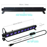 CLEARANCE - Dimmable 9 LED Bar Black Light UV Light Bar