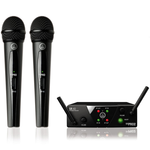 AKG WMS40 Mini Dual Vocal Wireless Microphone Set (Freq. 25 A/C)