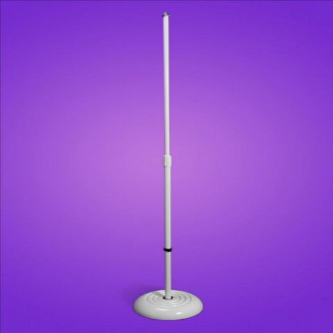 On-Stage Ms7201W Round Base Adjustable Height Microphone Stand - White Music