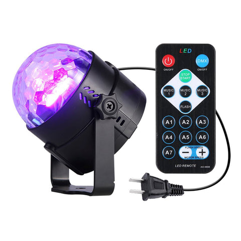 CLEARANCE - 3 Watt UV Disco Party Ball Light with Remote
