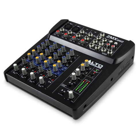 Alto Zmx862 6-Channel / 2 -Bus Compact Mixer Audio