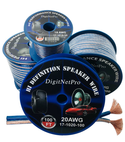 DigiNetPro 17-1016 High Performance Speaker Wire 16 AWG Speaker Wire 50ft, 100ft or 500ft