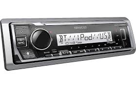 Kenwood KMR-M328BT Single DIN Marine/Motorsports Digital Media Receiver with Bluetooth and Alexa