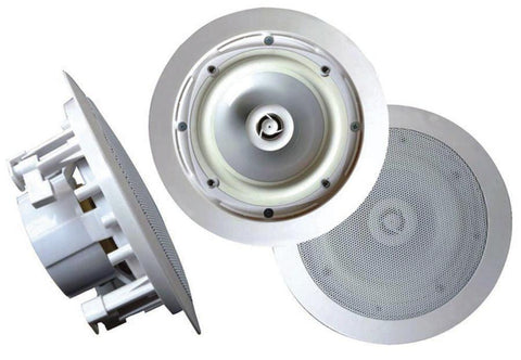 Acoustic Audio 89-8208 - 8 Weatherproof 2-Way In-Ceiling / In-Wall Stereo Speaker In-Ceiling