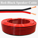 50' ft or 100Ft 16 Gauge Red Black Stranded 2 Conductor Speaker Wire for Marine Audio Installation
