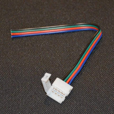 5050 RGB / Colour Changing LED Strip Light Solder Less Connector / End Wire - expert island