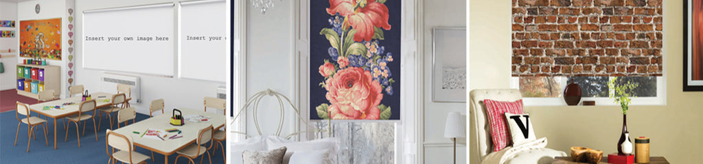 Custom Printed Handmade Roller Blinds