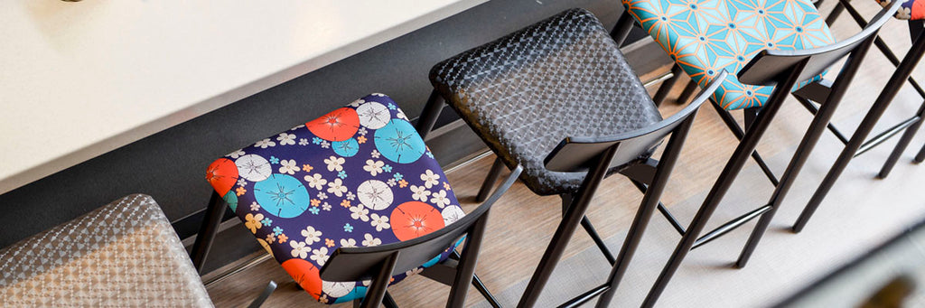 Custom printed fabrics for upholstery and furniture
