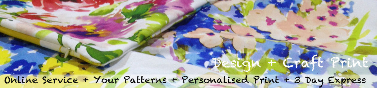 custom print your own patterns onto a range of fabrics and make your own products