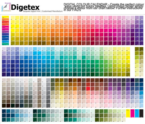 Digital Colour Calendar - Digetex - Digital Artwork Guide