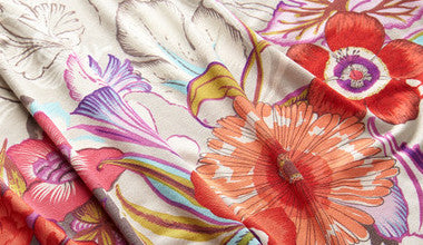 Custom printed Cottons Silks and Linens