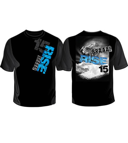 Braaap 15 - Rise Short Sleeve Snowmobile T-Shirt